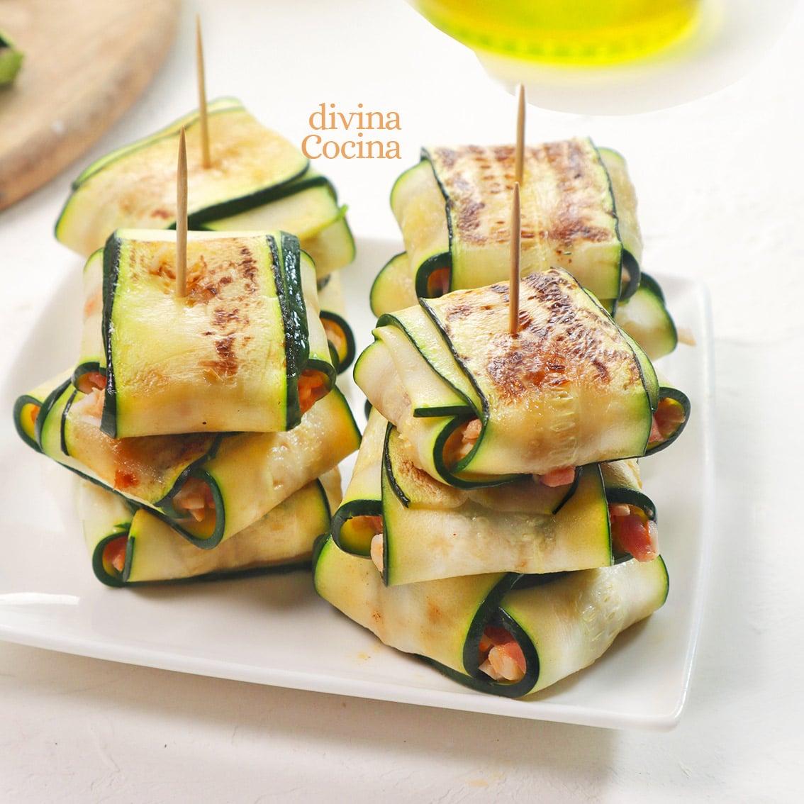 paquetitos de calabacin rellenos