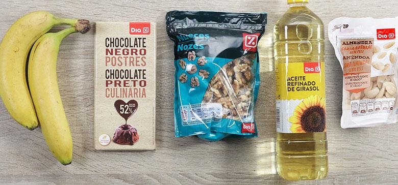 polos de platano y chocolate ingredientes