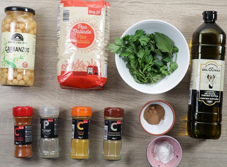 ingredientes falafel