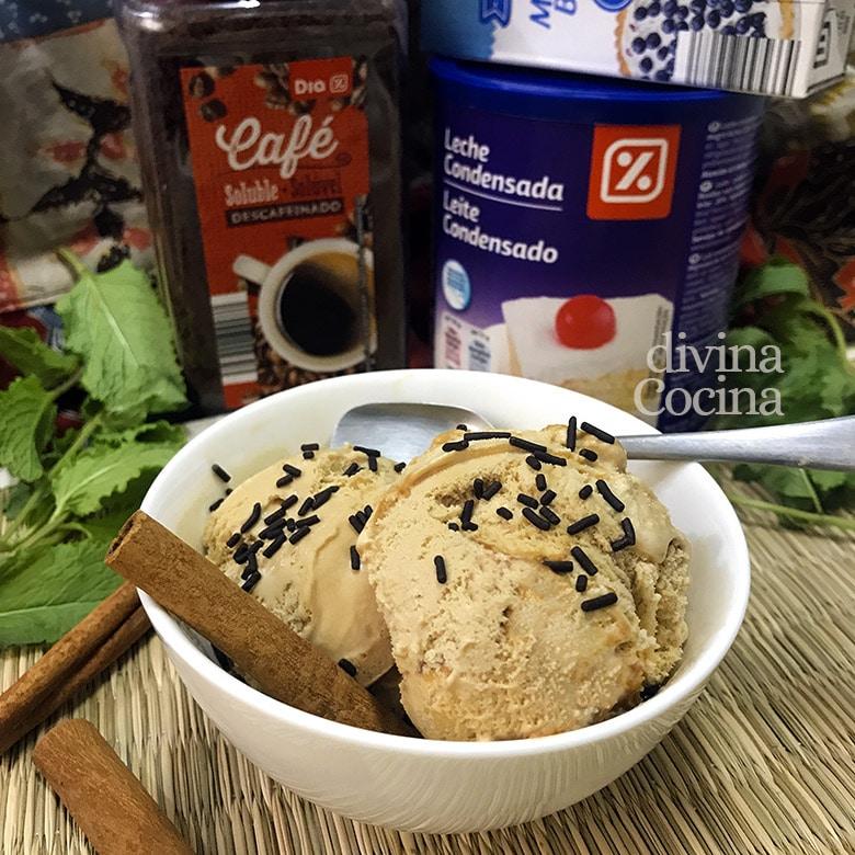 helado de cafe facil rapido