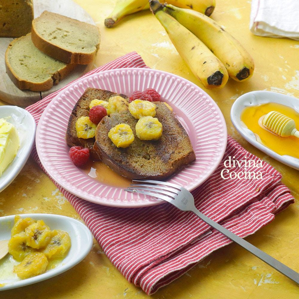 tostadas de pan de platano