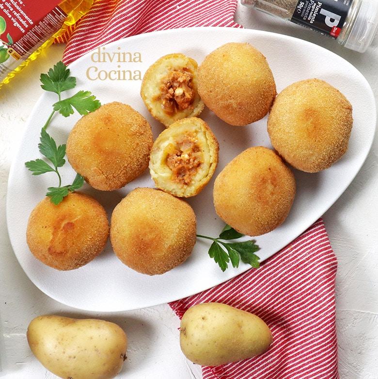 patatas bomba o bombas de patata