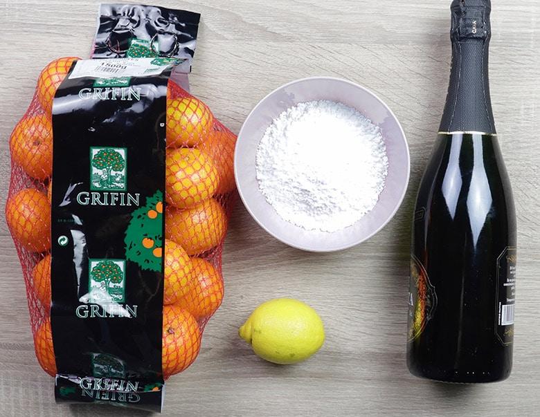 sorbete de mandarina ingredientes
