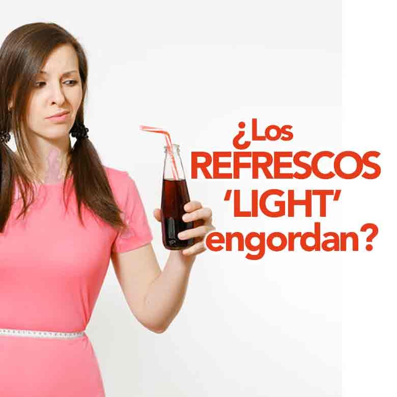 ¿Es verdad que los refrescos light engordan?
