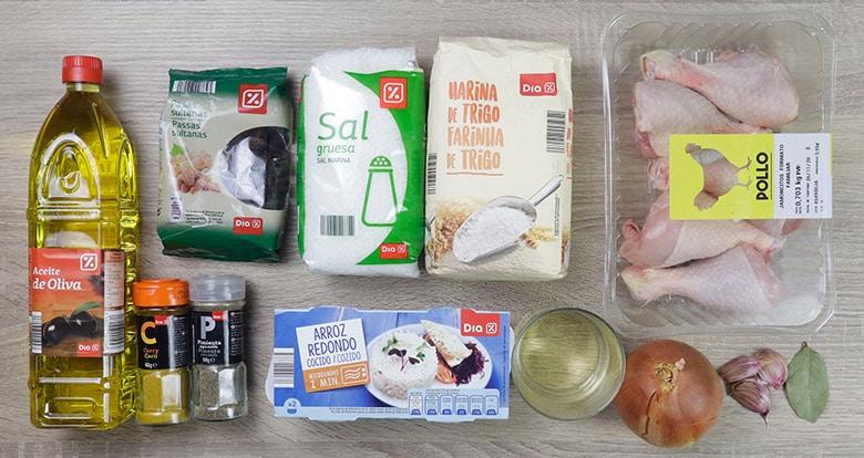 pollo guisado curry ingredientes
