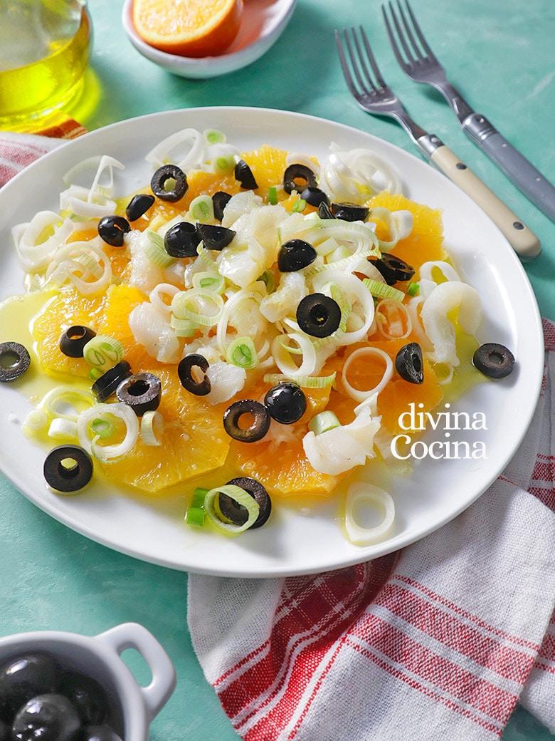 ensalada de bacalao y naranjas