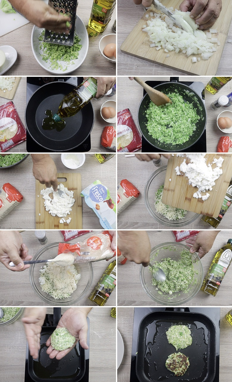 tortitas de brocoli paso a paso
