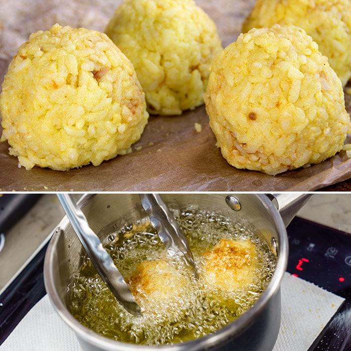 croquetas de arroz y queso paso a paso