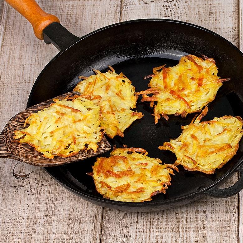 rosti de patatas sarten