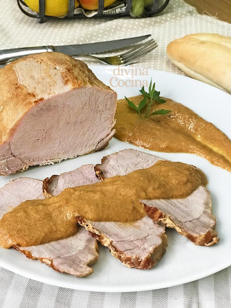 lomo de cerdo guisado en leche