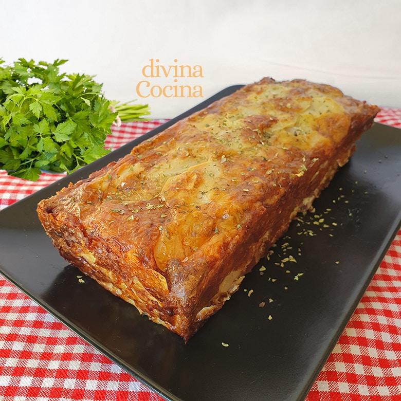 pastel de patata jamon y queso