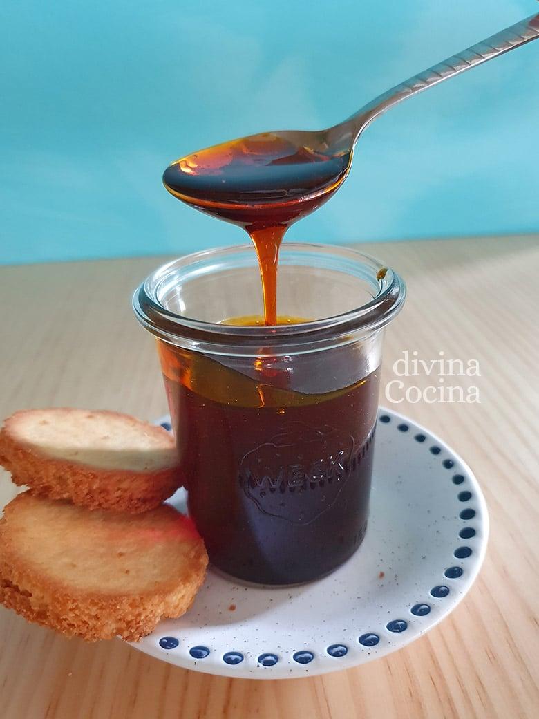 Caramelo liquido sin azucar con sirope de agave