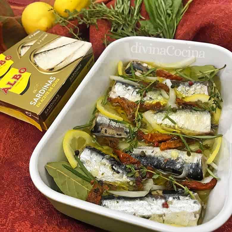 Sardinas marinadas a la italiana