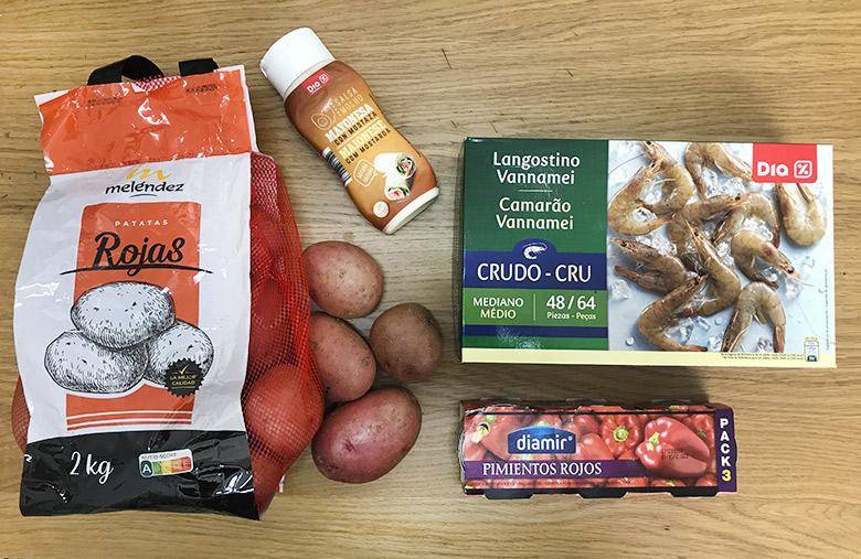 ensaladilla de langostinos ingredientes