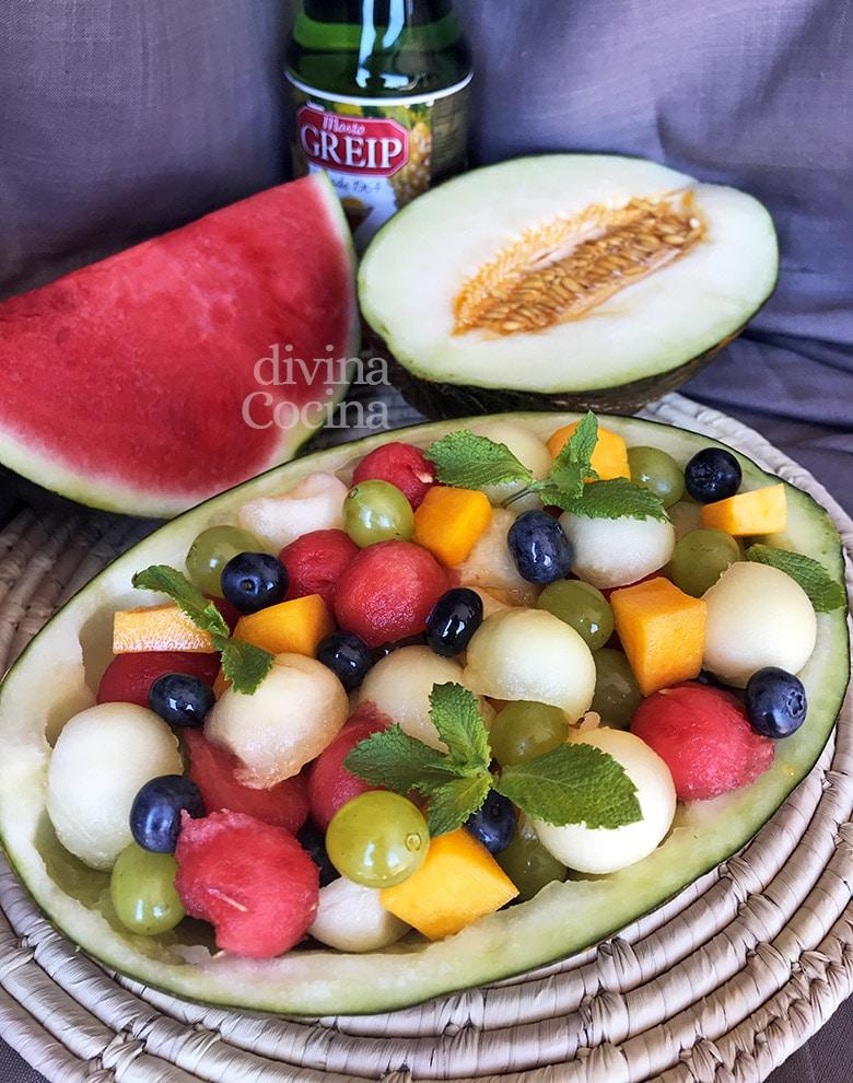 melon relleno de frutas