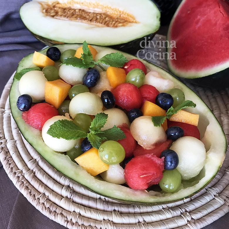 melon relleno fruta