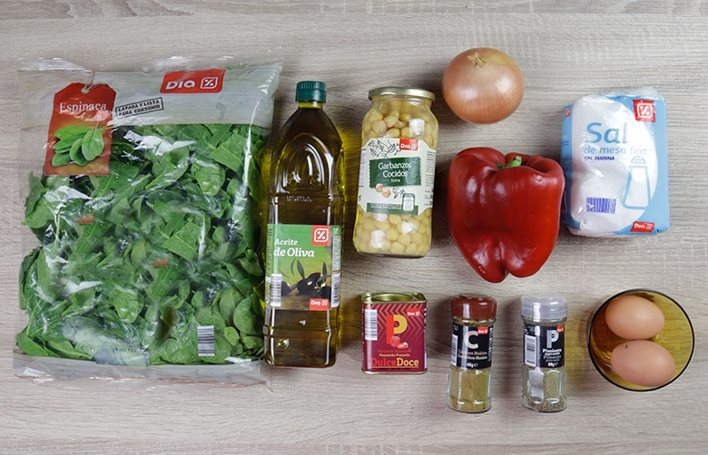 salteado garbanzos espinacas ingredientes