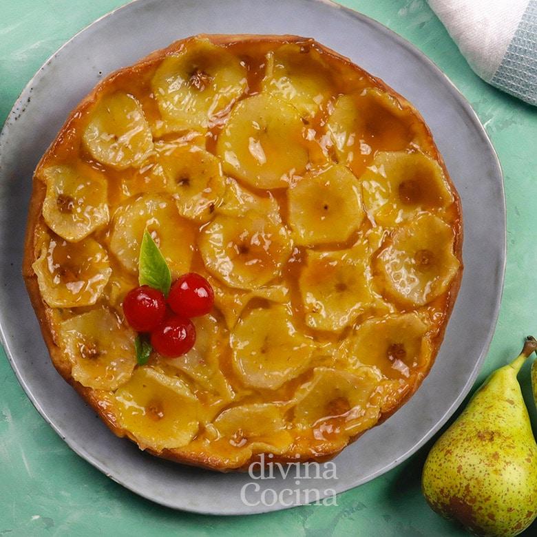 tarta de peras facil