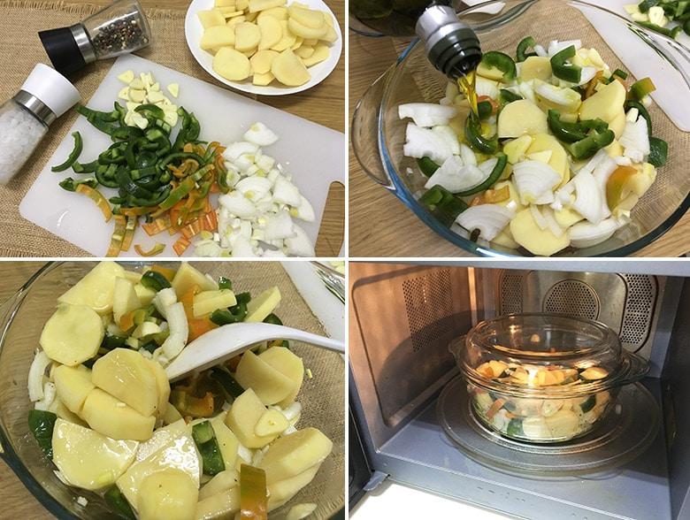 patatas panaderas microondas