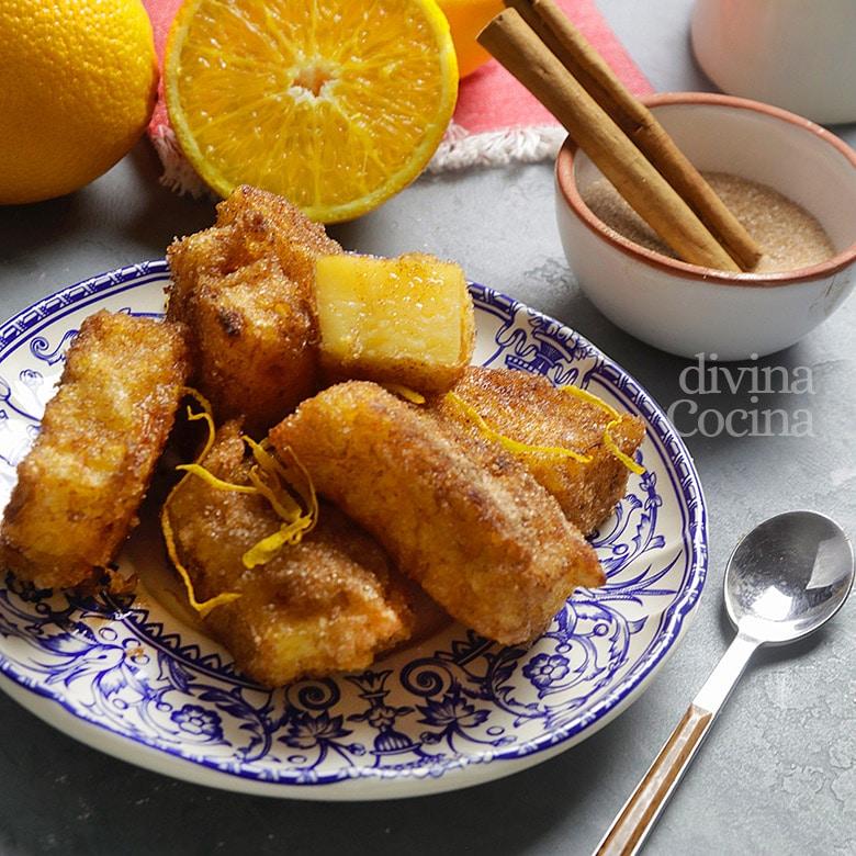 leche frita de naranja