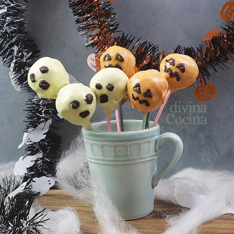 cake pops para halloween