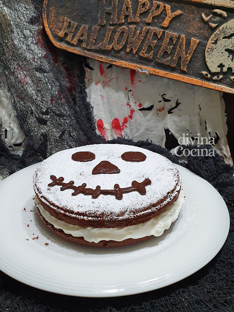 tarta halloween de chocolate