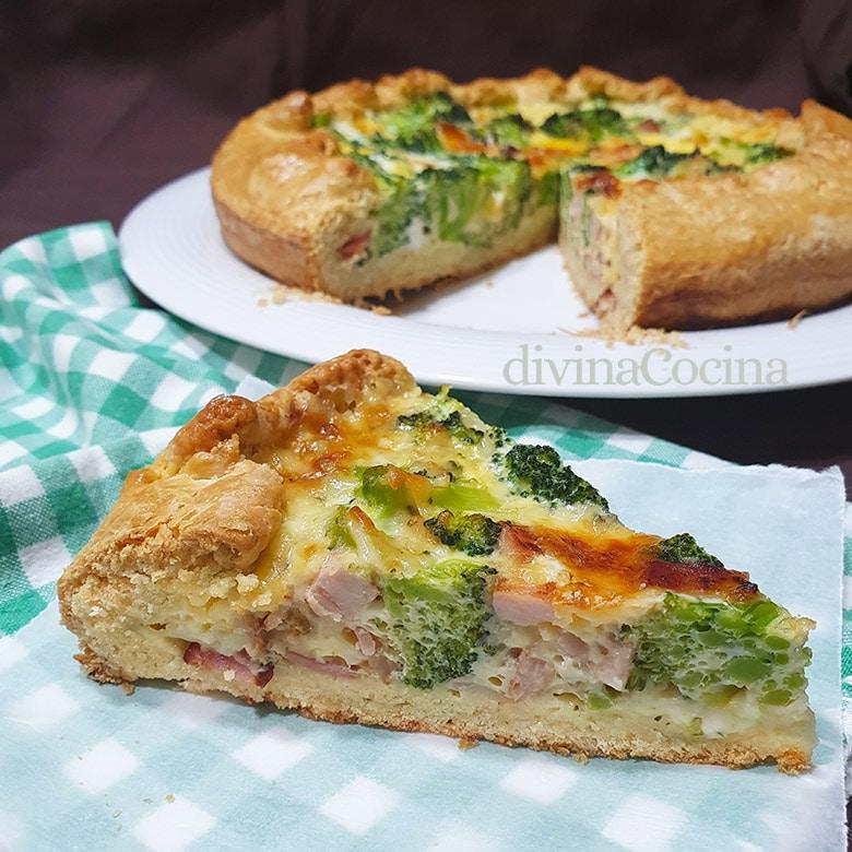 tarta salada de brocoli y queso