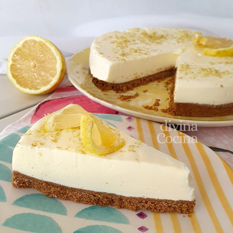 tarta mousse de limon sin horno