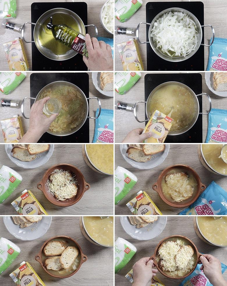 sopa de cebolla a la francesa paso paso