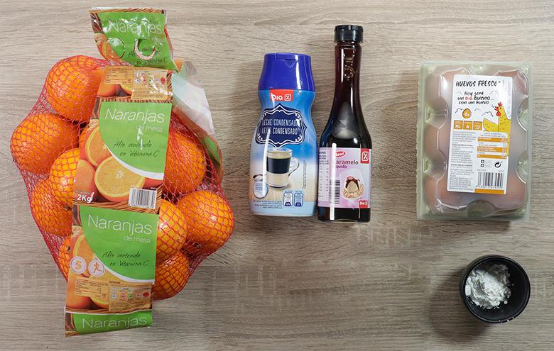 flan de naranja leche condensada ingredientes