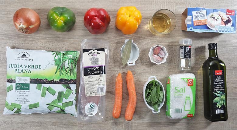 pavo guisado verduras ingredientes