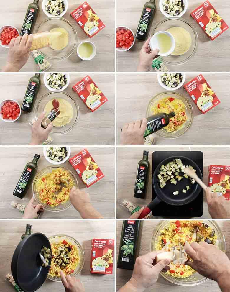 ensalada de cuscus napolitana paso paso