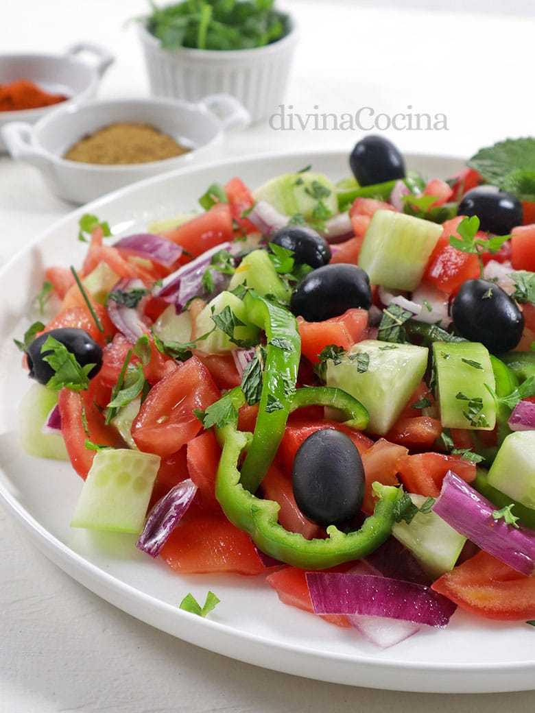 ensalada marroquí de tomate