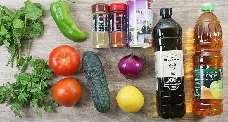 ensalada marroquí de tomate ingredientes