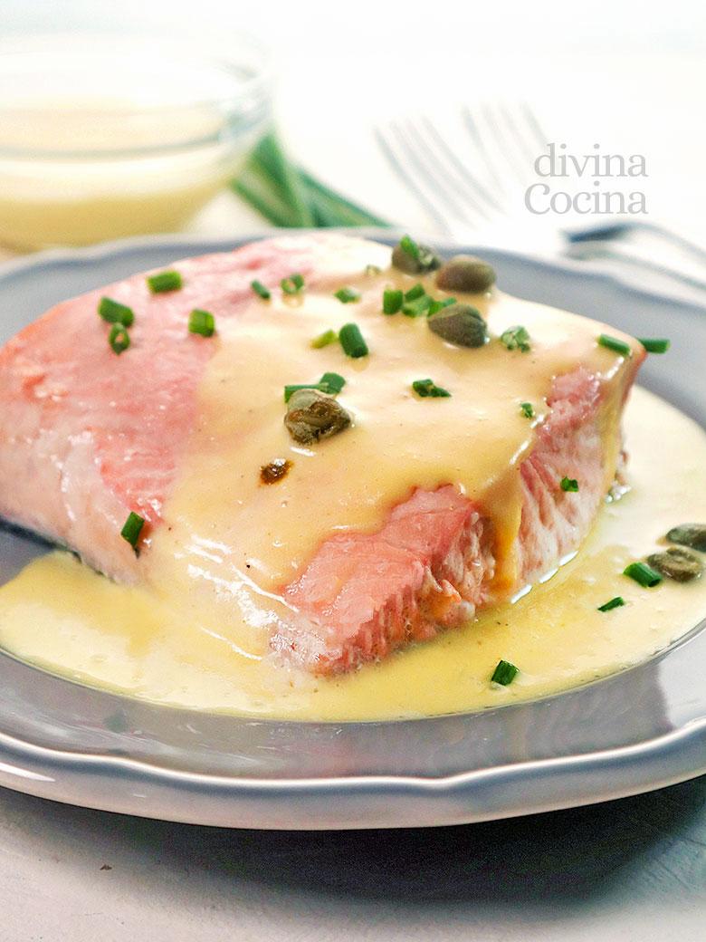 salmon vapor salsa muselina