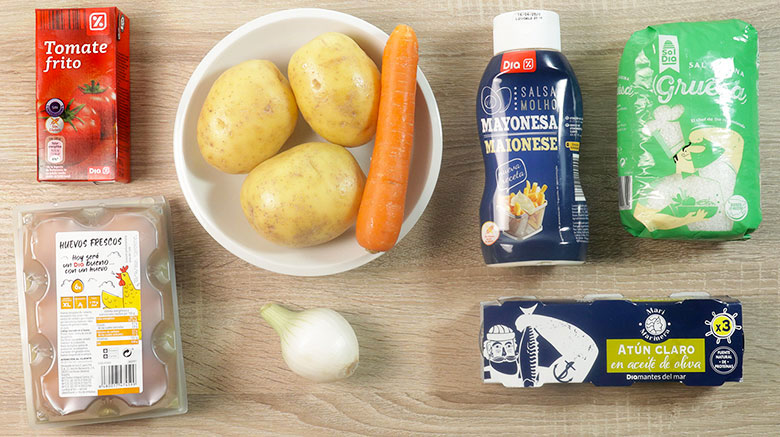 ensalada mimosa ingredientes
