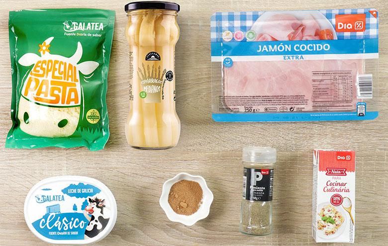 esparragos con jamon y queso ingredientes
