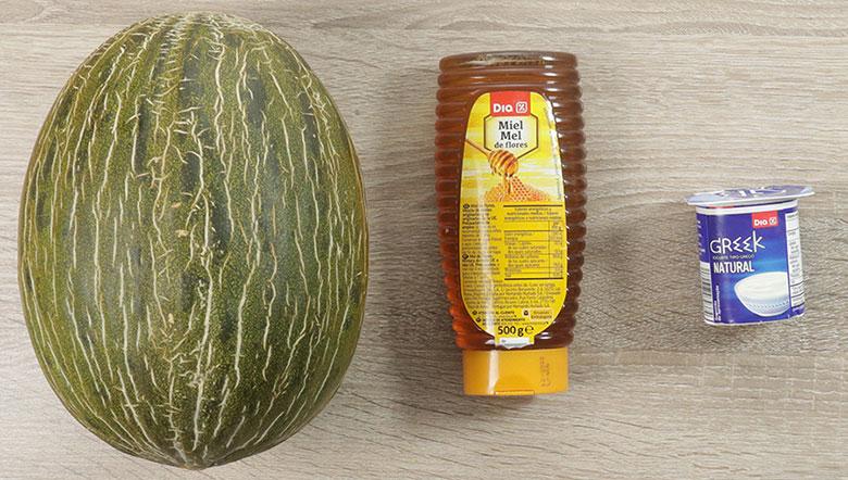 helado de melon ingredientes