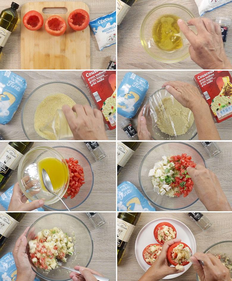 tomates rellenos de cuscus paso a paso