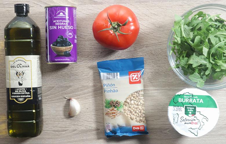 ensalada de tomate y burrata ingredientes