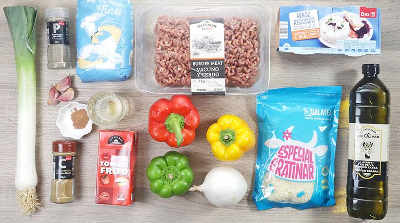 pimientos rellenos carne arroz ingredientes
