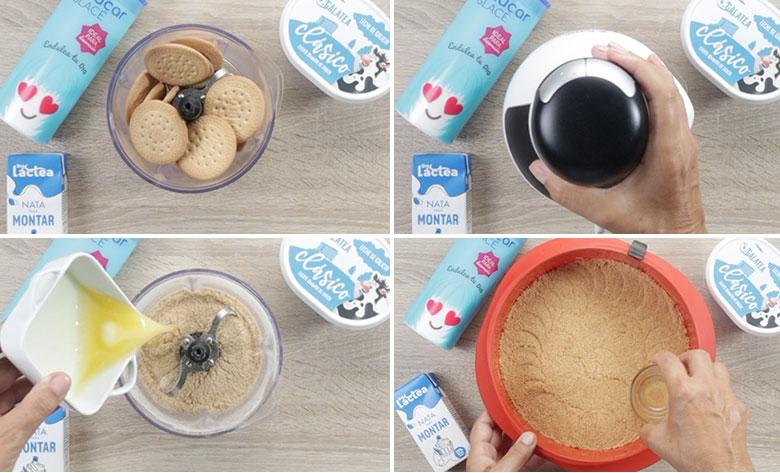 base de galletas tarta banoffee