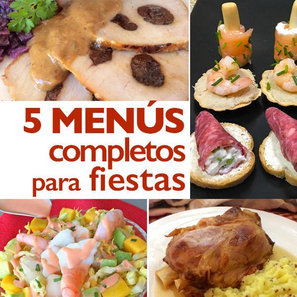 5 menús completos para invitados