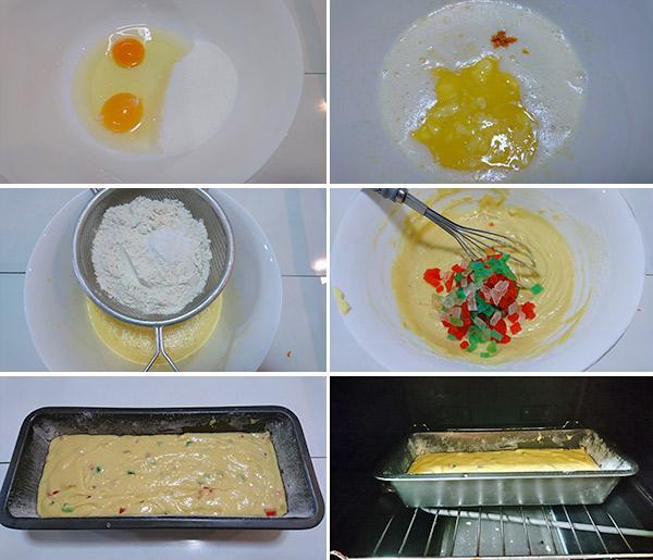 receta de bizcocho con fruta confitada