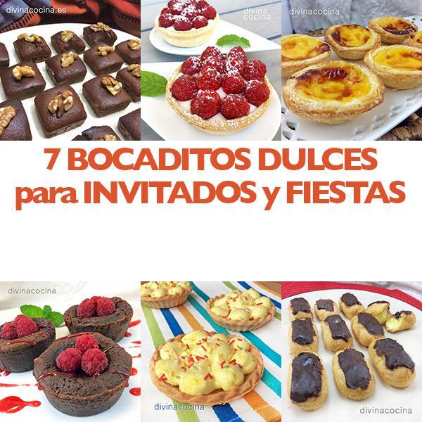 Receta de 7 bocaditos dulces para fiestas divina cocina for Cocina para fiestas