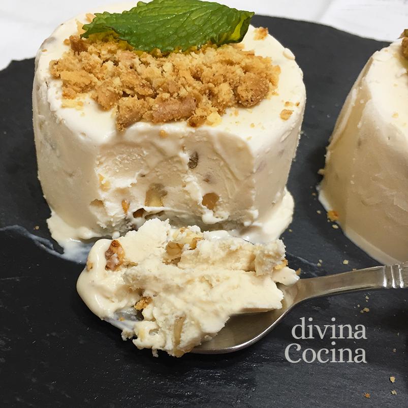 biscuit helado de queso detalle