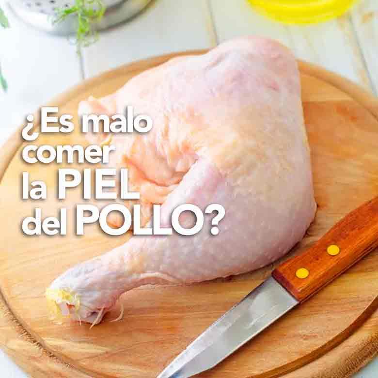 quitar la piel del pollo