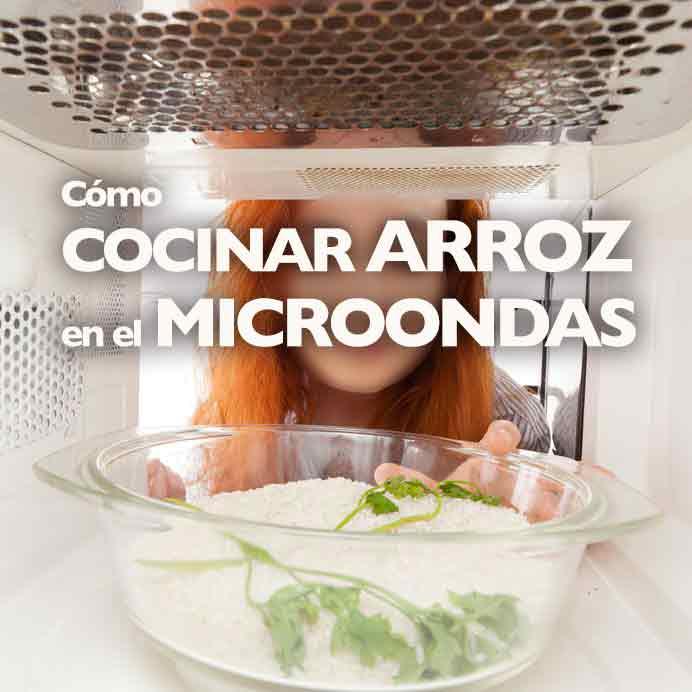 como cocinar arroz en el microondas