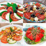 4 ensaladas de tomate frescas y sabrosas
