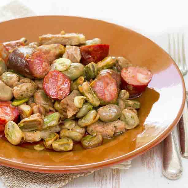 Receta De Habas Con Lomo Y Chorizo Divina Cocina